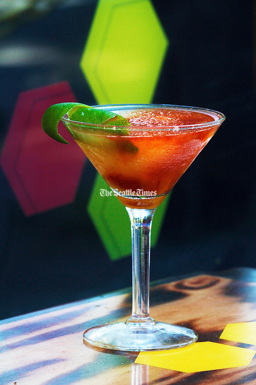 Colorful, refreshing cocktail. (Mark Harrison / The Seattle Times)