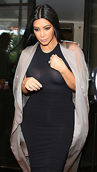 Kim Kardashian leaving her hotel in London, UK. 27/06/2015<br /> BYLINE MUST READ : JAMESY/GOTCHA IMAGES<br /> <br /> Copyright by © Gotcha Images Ltd. All rights reserved.<br /> Usage of this image is conditional upon the acceptance <br /> of Gotcha Images Ltd, terms and conditions available at<br /> www.gotchaimages.com