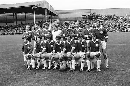 All Ireland Senior Football Championship Final, Offaly v Galway, 26.09.1971, 09.26.1971, 26th September 1971, Offaly 1-14 Galway 2-08, 26091971AISFCF, Referee Paul Kelly, ..Galway,. P J Smyth, B Colleran, J Cosgrove, N Colleran, L O'Neill, T J Gilmore, C McDonagh, L Sammon (Captain), W Joyce, P Burke, J Duggan, M Rooney, E Farrell, F Canavan, S Leydon..Subs, T Divilly for M Rooney, M Feerick for P Burke, L Sammon (Captain),