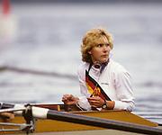 Bled, Slovenia, YUGOSLAVIA.  DDR W8+, cox Daniela NEUNAST.  1989 World Rowing Championships, Lake Bled. [Mandatory Credit. Peter Spurrier/Intersport Images]