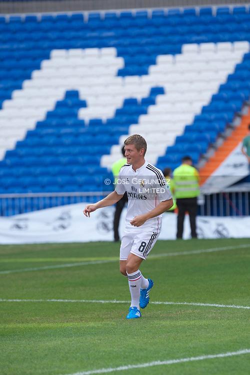 German Toni Kross presented new Real Madrid Player at Santiago Bernabeu Stadium on July 17, 2014 in Madrid