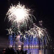 BATH, Maine -- 7/5/15 -- Fireworks lit up the sky on Sunday night over the Kennebec River as the conclusion to a successful 2015 Bath Heritage Days. Photo © 2015 Roger S. Duncan