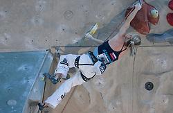 Climber Maja Vidmar (SLO) at World cup competition in Zlato polje, Kranj, Slovenia, on November 15, 2008.  (Photo by Vid Ponikvar / Sportida)
