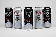 Coors Light 24 oz. Las Vegas Raiders 2020 inaugural season beer cans are seen on Friday, June 27, 2020.