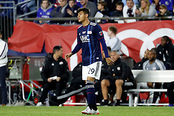 May 15, 2019 - Foxborough, MA, U.S. - FOXBOROUGH, MA - MAY 15: New England Revolution midfielder Nicolas Firmino (29) during the Final Whistle on Hate match between the New England Revolution and Chelsea Football Club on May 15, 2019, at Gillette Stadium in Foxborough, Massachusetts. (Photo by Fred Kfoury III/Icon Sportswire) (Credit Image: © Fred Kfoury Iii/Icon SMI via ZUMA Press)