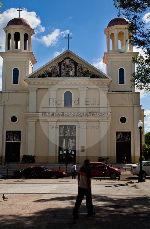 Nuestra Señora de la Candelaria cathedral in Mayaguez Puerto Rico