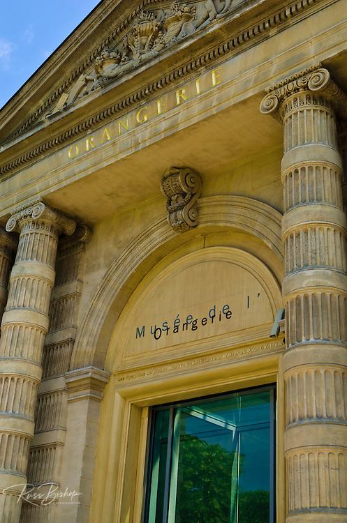 Entrance to the Orangerie Museum,  Tuileries Garden, Paris, France