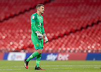 Oxford United's goalkeeper Simon Eastwood <br /> <br /> Photographer Andrew Kearns/CameraSport<br /> <br /> Sky Bet League One Play Off Final - Oxford United v Wycombe Wanderers - Monday July 13th 2020 - Wembley Stadium - London<br /> <br /> World Copyright © 2020 CameraSport. All rights reserved. 43 Linden Ave. Countesthorpe. Leicester. England. LE8 5PG - Tel: +44 (0) 116 277 4147 - admin@camerasport.com - www.camerasport.com