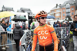 Marianne Vos (NED) of CCC-Liv Team at the start of the Liege-Bastogne-Liege Femmes - a 138.5 km road race, between Bastogne and Liege on April 28, 2019, in Wallonie, Belgium. (Photo by Balint Hamvas/Velofocus.com)