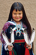 Violet Dawn Ahmie of Laguna Pueblo, poses after dancing at the Gallup Intertribal Ceremonial...© Randall K. Roberts