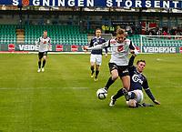 Fotball , 13. mai 2012, Tippeligaen Eliteserien , Sogndal - Viking<br /> (L) Ørjan Hopen, Eirik Bergum Skaasheim, Sogndal. (M) Vidar Nisja, Trond Erik Bertelsen, Viking.<br /> Foto: Christian Blom , Digitalsport
