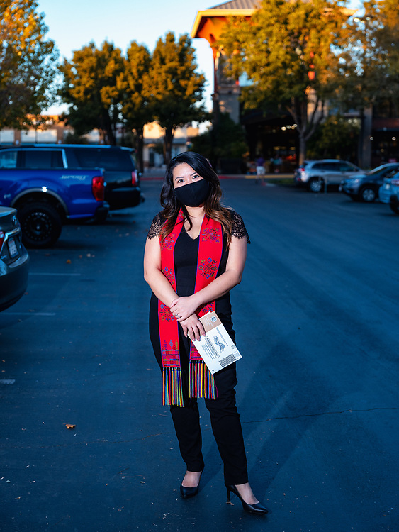 """Crystal (31), Salesforce Consultant. Lu-Mien.<br /> <br /> I have always opted for voting by mail because I like to research the propositions on my own time at home and not be rushed. I did the same this election but it did feel different this year—there's been so much noise around supposed """"voter fraud"""" and politicians """"trying to throw the election"""" that it made me more vigilant about dropping off my ballot early and ensuring it's in a certified/official ballot box. I will also be following up to make sure my vote was tracked and counted, something I never worried about before this 2020 election.<br /> <br /> I Vote because it matters! Representation matters and having your voice counted is something to not take for granted. Our families have sacrificed and fled the unimaginable to get to this country which now allows me the right to vote and be part of this democracy. Gotta embrace that! Everything we are voting on is so critical — from the next president of the free world to the statewide and local measures. It affects us all.<br /> <br /> As an Iu-Mien American, I feel like we are still so underrepresented in the US. We have yet to be counted as a group in the Census yet alone major policies but hoping that will change with this 2020 census. As an Asian American overall, I feel like our voices are heard to a certain extent but could be way better represented through disaggregated data amongst the Asian ethnicities. That could help demystify stereotypes associated with Asians overall that actually end up hurting us rather than helping, such as the notion of being the """"model minority.""""<br /> <br /> After this election, I would love to see more unity and less violence and hate in this country. We have become so divisive and hateful and it is terrifying to see. I am also hoping to see more accountability from those who are supposed to be serving our country and communities, more equity and accessibility for all, and finally see some leadership in our administration."""