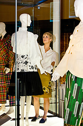 Pictured: Curator Georgina Ripley makes this finishing touches to the Tommy Nutter exhibit<br /> <br /> The National Museum of Scotland will launch ten new galleries on 8 July following a £14.1 million redevelopment in their 150th year.  <br /> <br /> Ger Harley | EEm 5 July 2016