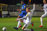AFC Wimbledon attacker Michael Folivi (41) chasing through ball during the EFL Sky Bet League 1 match between AFC Wimbledon and Peterborough United at the Cherry Red Records Stadium, Kingston, England on 12 March 2019.