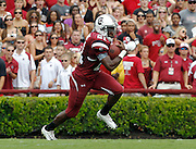 COLUMBIA - SEPTEMBER 11:  Tailback Marcus Lattimore #21 of the South Carolina Gamecocks runs with the ball during the game against the Georgia Bulldogs at Williams-Brice Stadium on September 11, 2010 in Columbia, South Carolina.  The Gamecocks beat the Bulldogs 17-6.  (Photo by Mike Zarrilli/Getty Images)