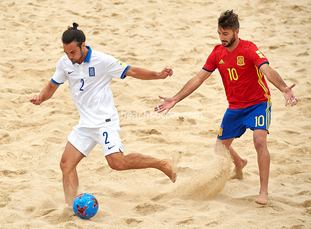 NAZARE, PORTUGAL - JULY 08:  Euro Beach Soccer League Nazare 2017 at Praia Norte on July 08, 2017 in Nazare, Portugal. (Photo by Manuel Queimadelos)