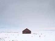 Red Barn near Hamilton, Montana.