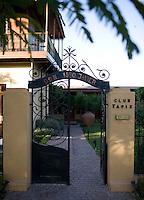 The entrance to Club Tapiz, a boutique hotel in the Luján de Cuyo area of Mendoza, Argentina.