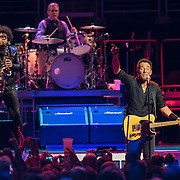 WASHINGTON, DC - January 29th, 2016 - Jake Clemons, Max Weinberg  and Bruce Springsteen perform at the Verizon Center during Springsteen's The River 2016 Tour. Springsteen and the E Street Band are performing the seminal 1980 album in full on the tour. (Photo by Kyle Gustafson / For The Washington Post)