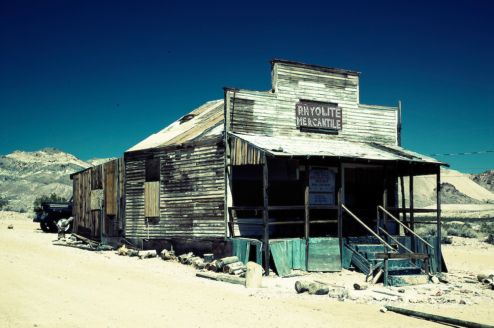 Death Valley Ghost Town with Abandoned Mercantile Shop
