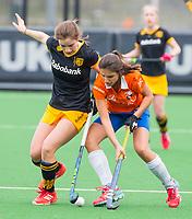 BLOEMENDAAL - hockey - Competitie Landelijk meisjes : Bloemendaal MB1-Den Bosch MB1 (1-1). Laura Texeira van Bloemendaal.  COPYRIGHT KOEN SUYK