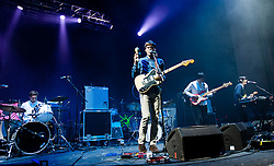 © Licensed to London News Pictures. 30/10/2012. London, UK.   Young Dreams performing live at O2 Academy Brixton supporting Tame Impala. Young Dreams are a psychedelic rock/pop band from Bergen, Norway.  Its members include Rune Vandaskog, Njål Paulsberg, Richard Myklebust, Kim Åge Furuhaug, Chris Holm, Matias Tellez, Pablo Tellez, Marius Erster Bergesen, Fredrik Vogsborg, Per Kristian Slåttli, David Holmes, Emilio Sanhueza.  Photo credit : Richard Isaac/LNP