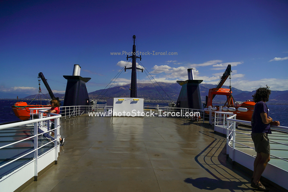 Ferryboat from Patras, Peloponnese to Sami, Cephalonia, Greece