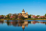 Spring Lake, NJ USA -- Nov 1, 2016 -- St. Catharine Catholic Church in the Spring time in Spring Lake. Editorial Use Only.