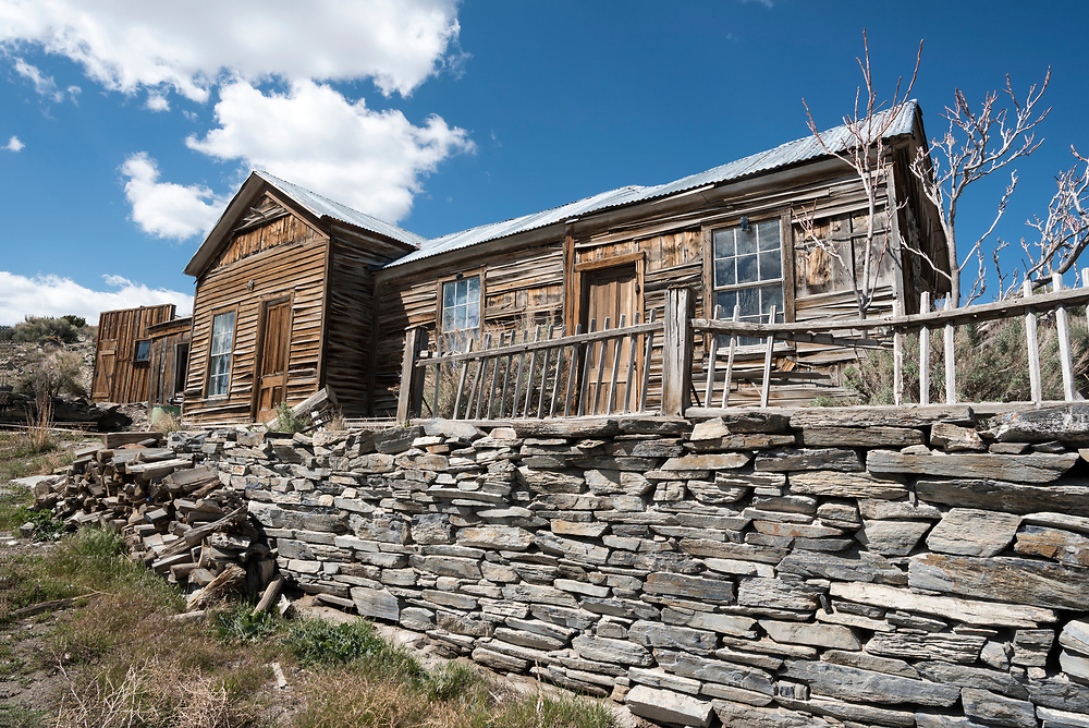 Old house in the historic mining town of Belmont, Nevada.