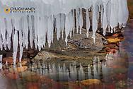 Ice formations along Lake McDonald in Glacier National Park, Montana, USA