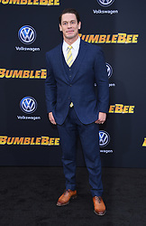 December 9, 2018 - Hollywood, California, U.S. - John Cena arrives for the premiere of the film 'Bumblebee' at the Chinese theater. (Credit Image: © Lisa O'Connor/ZUMA Wire)