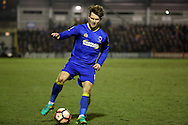 AFC Wimbledon midfielder Jake Reeves (8) dribbling during the The FA Cup third round replay match between AFC Wimbledon and Sutton United at the Cherry Red Records Stadium, Kingston, England on 17 January 2017. Photo by Matthew Redman.