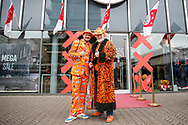 Dutch football fans in fancy dress before the Friendly match between Netherlands and England at the Amsterdam Arena, Amsterdam, Netherlands on 23 March 2018. Picture by Phil Duncan.