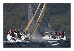 Brewin Dolphin Scottish Series 2011, Tarbert Loch Fyne - Yachting - Day 2 of the 4 day series. Windy!.IRL1666 ,Carmen II ,Jeffrey/Scutt ,CCC/HSC ,First 36.7..