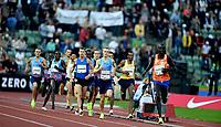 Friidrett , 15. juni 2017 ,  Diamond League , Bislett Games<br /> Filip Ingebrigtsen , NOR 1500 m<br /> Marcin Lewandowski , POL<br /> Ayanleh Souleiman , DJI