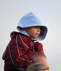 Spectator at the FA Women's Super League match between Bristol Academy Women and Arsenal Ladies FC at Stoke Gifford Stadium on 9 May 2015 in Bristol, England - Photo mandatory by-line: Paul Knight/JMP - Mobile: 07966 386802 - 09/05/2015 - SPORT - Football - Bristol - Stoke Gifford Stadium - Bristol Academy Women v Arsenal Ladies FC - FA Women's Super League