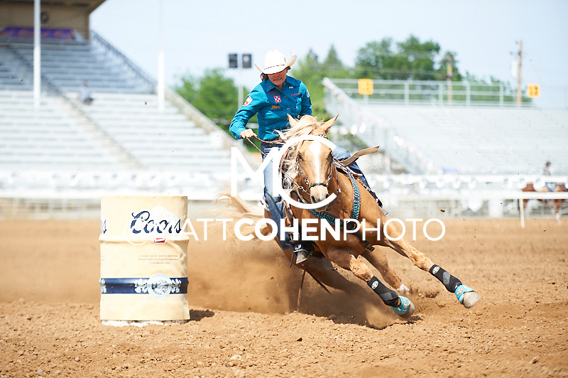Barrel racer Brittany Pozzi of Victoria, TX competes at the Red Bluff Round-Up at the Tehama District Fairgrounds in Red Bluff, CA.<br /> <br /> <br /> UNEDITED LOW-RES PREVIEW<br /> <br /> <br /> File shown may be an unedited low resolution version used as a proof only. All prints are 100% guaranteed for quality. Sizes 8x10+ come with a version for personal social media. I am currently not selling downloads for commercial/brand use.