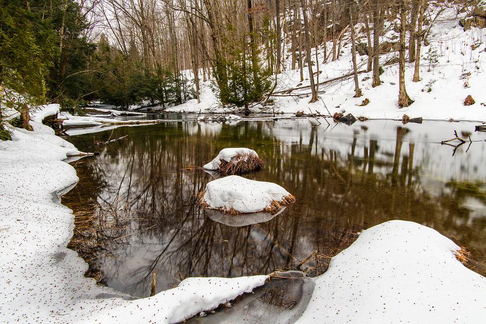 The Skeleton River in winter, Rosseau, Ontario, Canada