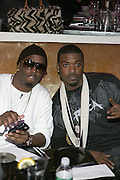 """P.Diddy and Ray J at """" The P. Diddy presents Bad Boy Entertainment Night """" at Spotlight NYC featuring performances by Cherri Dennis and Vanity Kane on January 29, 2008"""