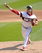 CHICAGO - SEPTEMBER 10: Carson Fulmer #51 of the Chicago White Sox pitches against the San Francisco Giants on September 10, 2017 at Guaranteed Rate Field in Chicago, Illinois.  The White Sox defeated the Giants 8-1.  (Photo by Ron Vesely) Subject:   Carson Fulmer