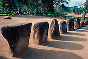 PUERTO RICO, TAINO CULTURE Caguana Ceremonial Park stones