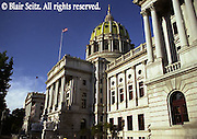 PA Capitol, Harrisburg, PA, Architect Joseph Huston, 3rd St. StepsPA Capitol, Harrisburg, PA, Architect Joseph Huston,
