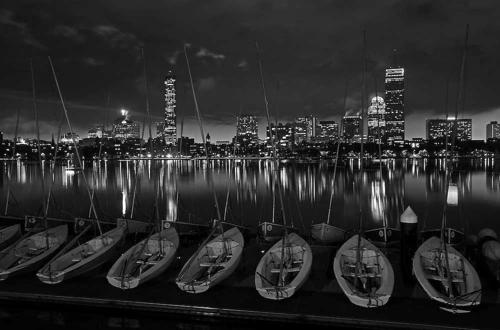 Boston B&W photography of the Charles River featuring famous landmarks such as the Prudential Center and John Hancock Tower. <br /> <br /> This classic New England city of Boston night scenery photography image is available as museum quality photography prints, canvas prints, acrylic prints or metal prints. Fine art prints may be framed and matted to the individual liking and decorating needs:<br /> <br /> http://juergen-roth.pixels.com/featured/boston-black-night-juergen-roth.html<br /> <br /> Good light and happy photo making! <br /> <br /> My best, <br /> <br /> Juergen<br /> Website: www.RothGalleries.com<br /> Twitter: @NatureFineArt<br /> Facebook: https://www.facebook.com/naturefineart<br /> Instagram: https://www.instagram.com/rothgalleries<br /> Photo Blog: http://whereintheworldisjuergen.blogspot.com