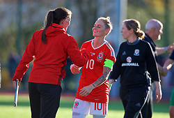 YSTRAD MYNACH, WALES - Wednesday, April 5, 2017: Wales' Jessica Fishlock walks off the pitch after the 3-1 win in the Women's International Friendly match against Northern Ireland at Ystrad Mynach. (Pic by Laura Malkin/Propaganda)