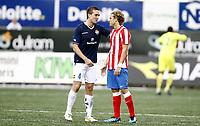 Fotball , 4. august 2011 , Europaleague , 3. qual.<br /> Strømsgodset - Atletico Madrid 0-2<br /> <br /> Kim Andrè Madsen SIF<br /> Kim Madsen , SIF<br /> Diego Forlan , AM