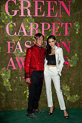 Stephen Hung and Deborah Valdez attend the Green Carpet Fashion Awards Gala during Milan Fashion Week Spring/Summer 2019 on September 23, 2018 in Milan, Italy. Photo by Marco Piovanotto/ABACAPRESS.COM