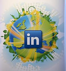 LinkedIn branding in LinkedIn's offices in Gardner House, Wilton Place Dublin.