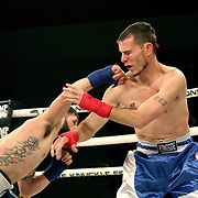 FORT LAUDERDALE, FL - FEBRUARY 15: Travis Thompson (L) fights Joshua Bordauex during the Bare Knuckle Fighting Championships at Greater Fort Lauderdale Convention Center on February 15, 2020 in Fort Lauderdale, Florida. (Photo by Alex Menendez/Getty Images) *** Local Caption *** Travis Thompson; Joshua Bordauex