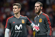 Kepa and David De Gea of Spain warms up before the International friendly game football match between Spain and Argentina on march 27, 2018 at Wanda Metropolitano Stadium in Madrid, Spain - Photo Rudy / Spain ProSportsImages / DPPI / ProSportsImages / DPPI