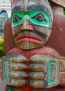 Kwakwaka'wakw Totem Pole by Richard Hunt, Victoria, Canada